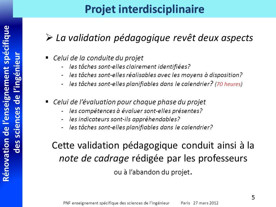 Rénovation de l'enseignement spécifique des sciences de l'ingénieur PNF enseignement spécifique des sciences de l'ingénieur Paris 27 mars 2012 7.