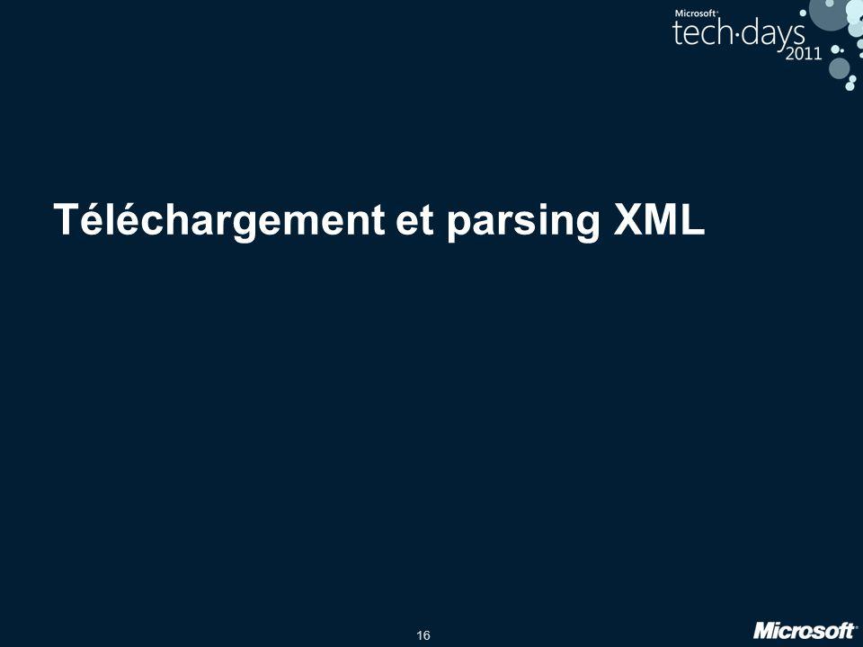 16 Téléchargement et parsing XML