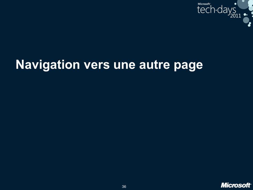 36 Navigation vers une autre page