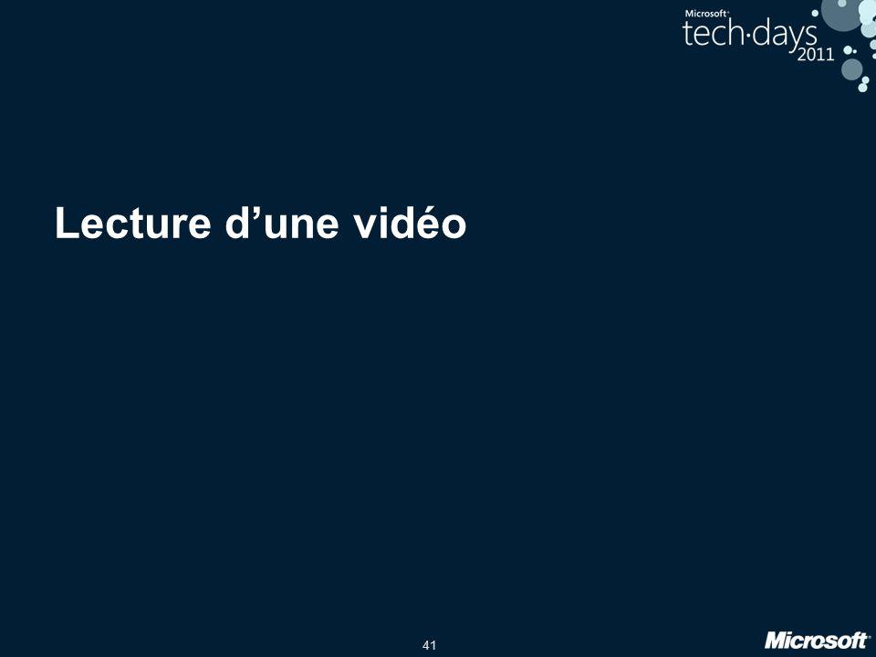 41 Lecture d'une vidéo