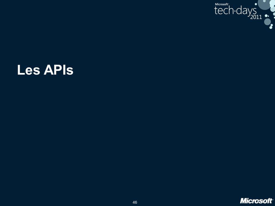 46 Les APIs
