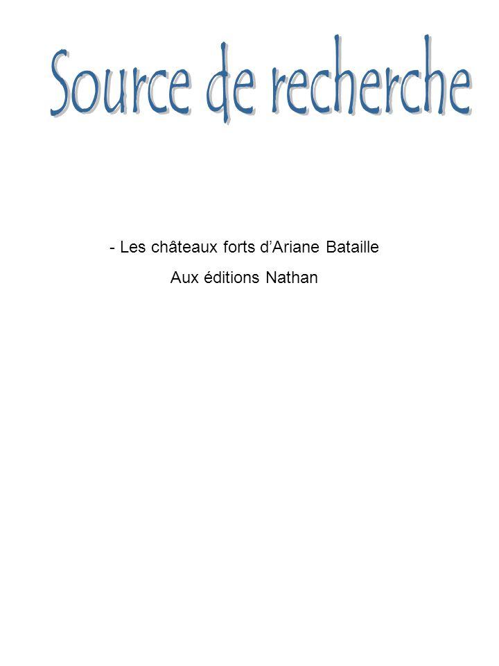 - Les châteaux forts d'Ariane Bataille Aux éditions Nathan