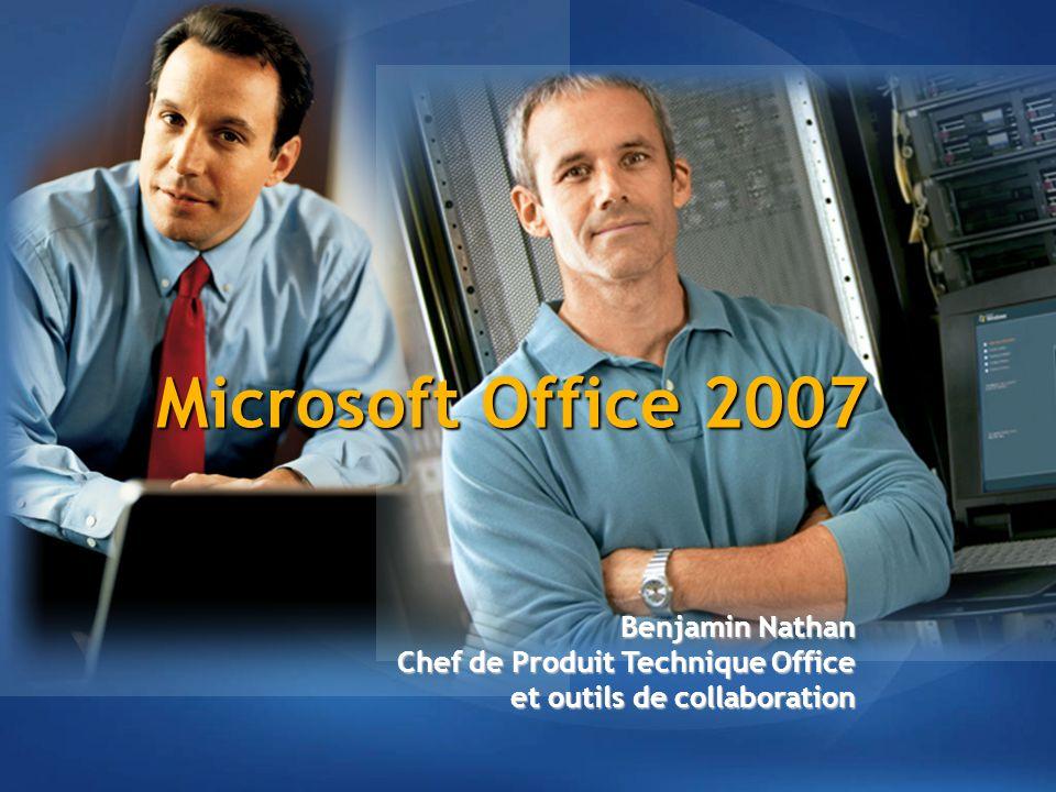 Agenda Feuille de route Office System Nouvel environnement de travail Axes d'investissement d'Office 12