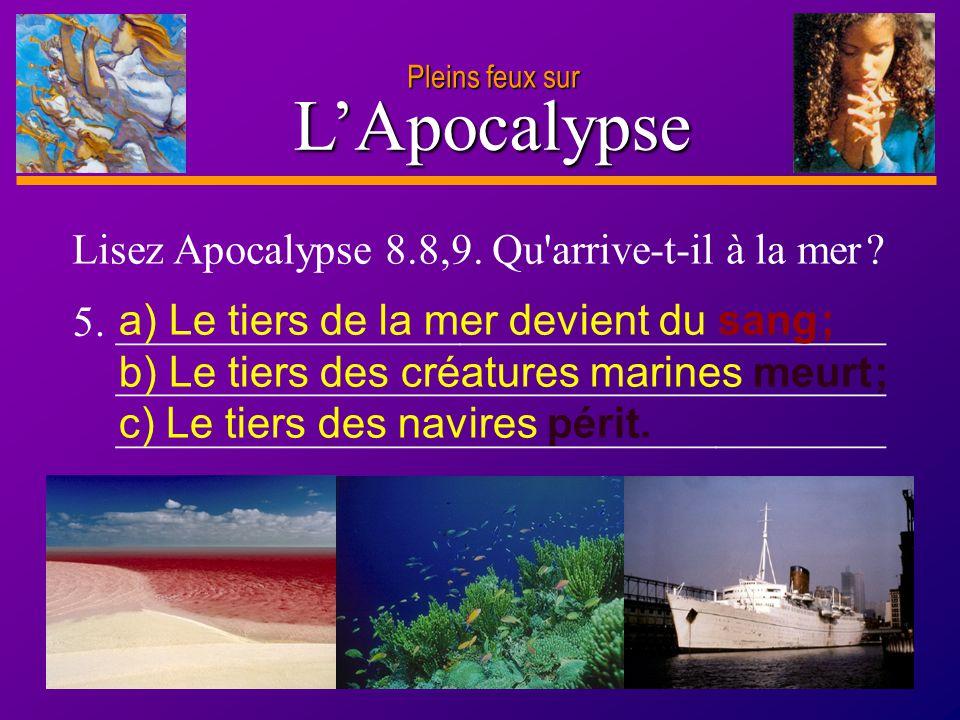 D anie l Pleins feux sur 9 L'Apocalypse 4.