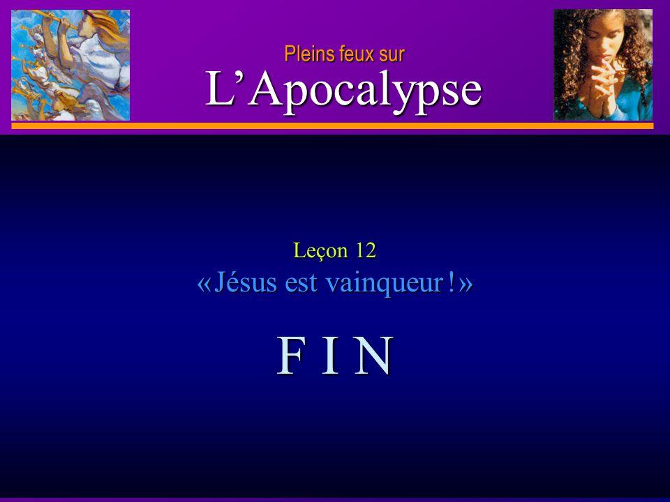 D anie l Pleins feux sur 29 L'Apocalypse Pleins feux sur Questions à méditer Vous arrive-t-il d être angoissé à la vue des problèmes complexes qui affectent ce monde .