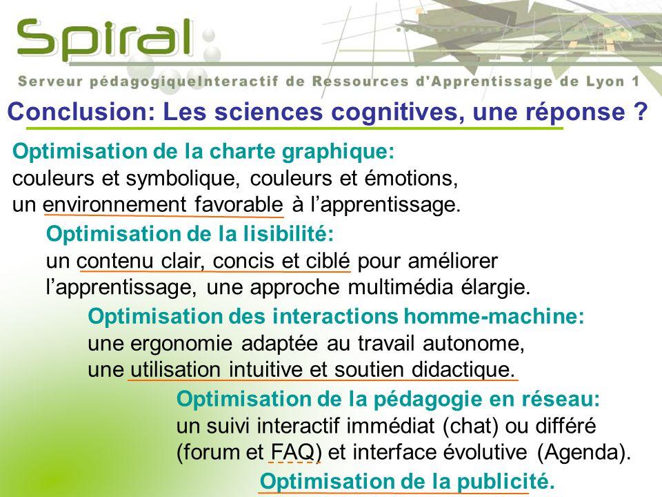 Conclusion: Les sciences cognitives, une réponse .