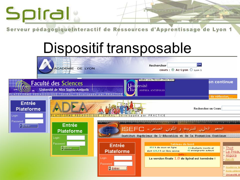 Dispositif transposable