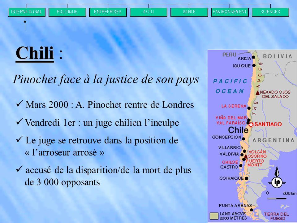 Pinochet face à la justice de son pays  Mars 2000 : A.