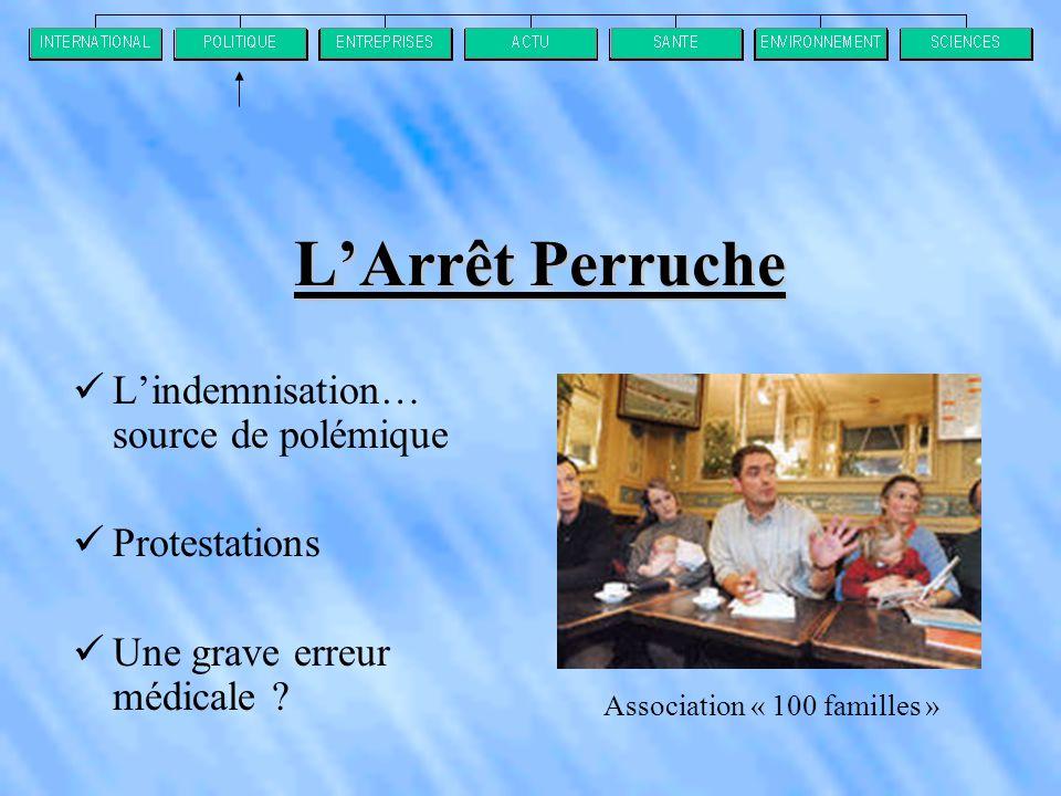 L'Arrêt Perruche  L'indemnisation… source de polémique  Protestations  Une grave erreur médicale .
