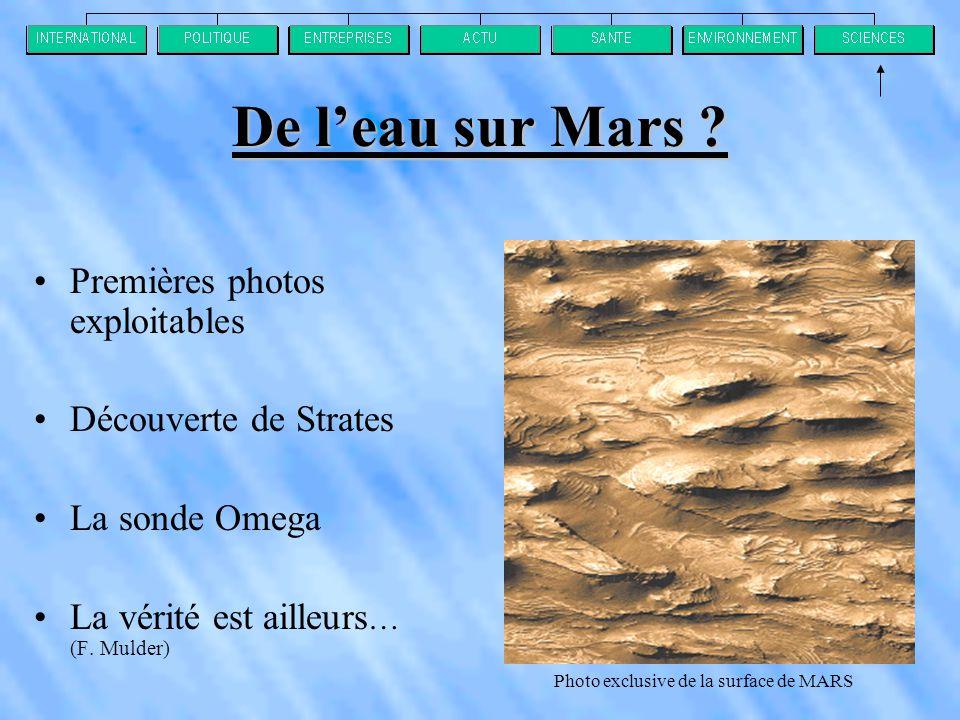 De l'eau sur Mars .