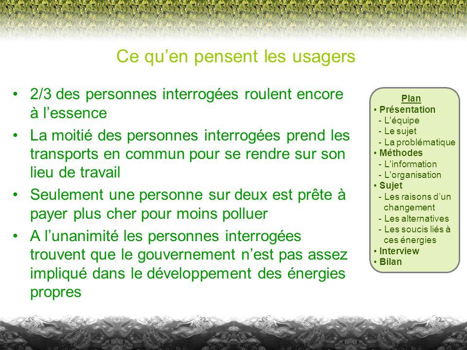 Plan • Présentation - L'équipe - Le sujet - La problématique • Méthodes - L'information - L'organisation • Sujet - Les raisons d'un changement - Les a