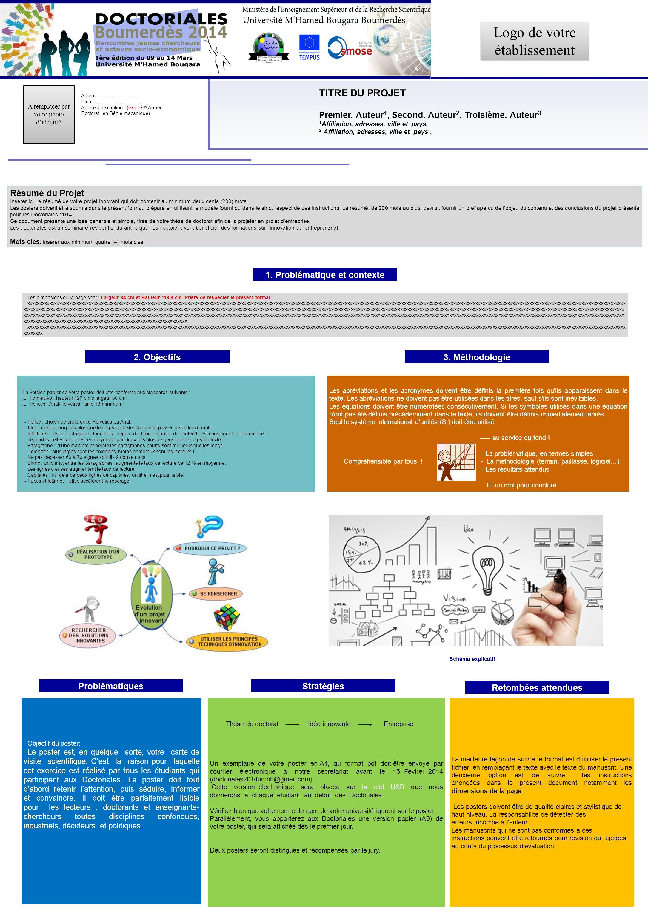 Résumé du Projet Insérer ici Le résumé de votre projet innovant qui doit contenir au minimum deux cents (200) mots.