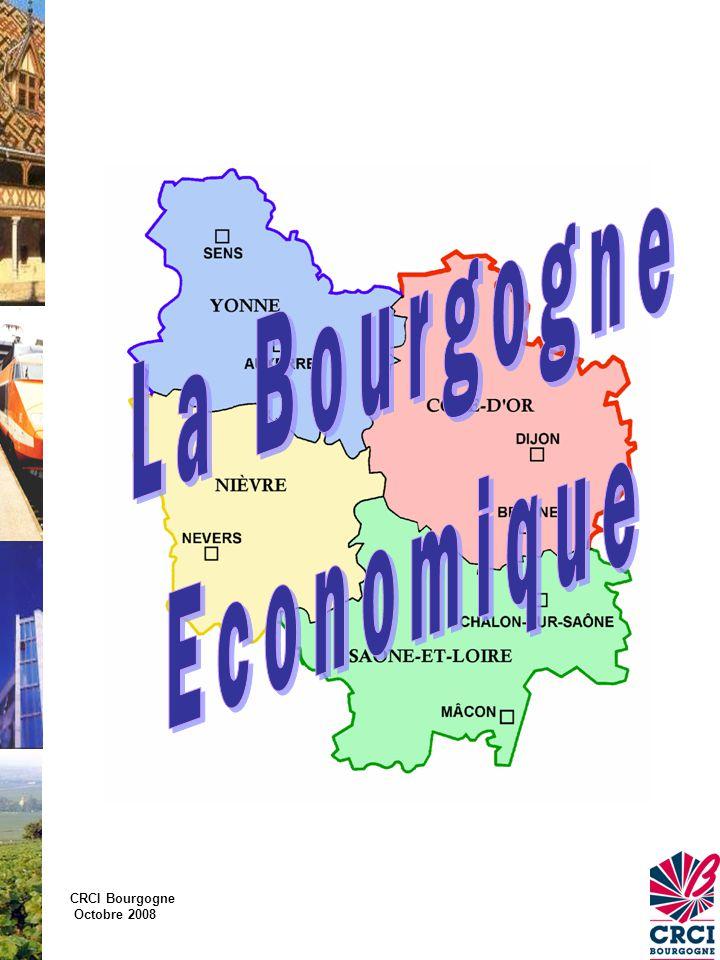 CRCI Bourgogne Octobre 2008 La Bourgogne… en situation En Europe dans l'Europe des 27