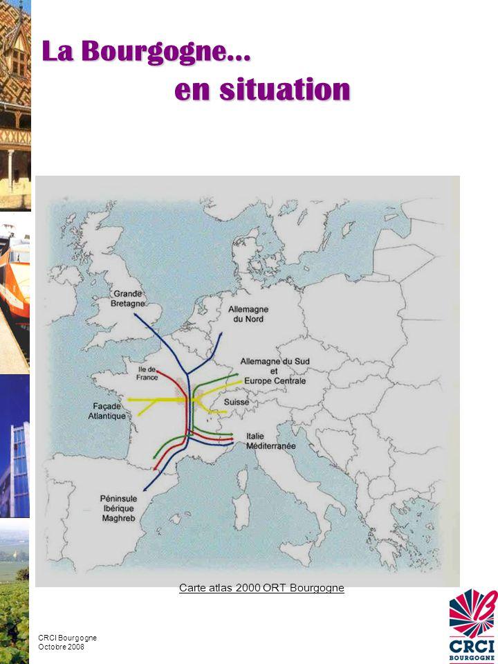Carte atlas 2000 ORT Bourgogne La Bourgogne… en situation CRCI Bourgogne Octobre 2008