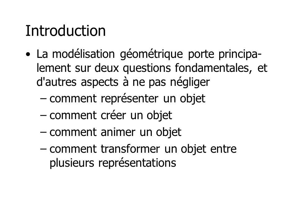 Représentation d'un objet •Il existe une panoplie de façons de représenter un objet.