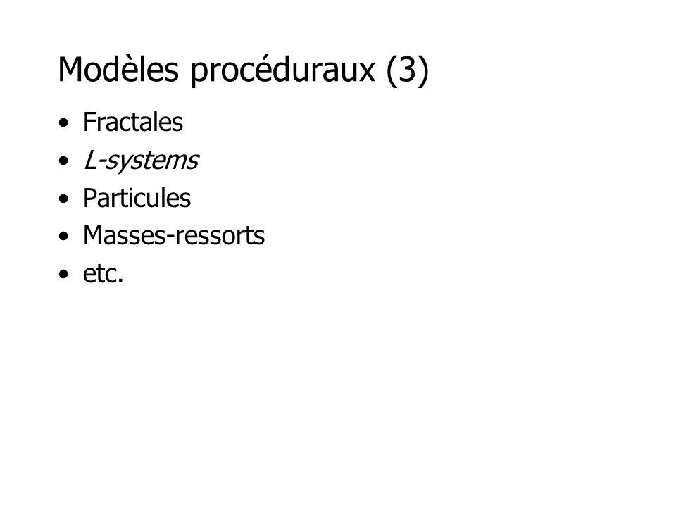 Fractales Mandelbrot courbe de Koch où x et c sont complexes.