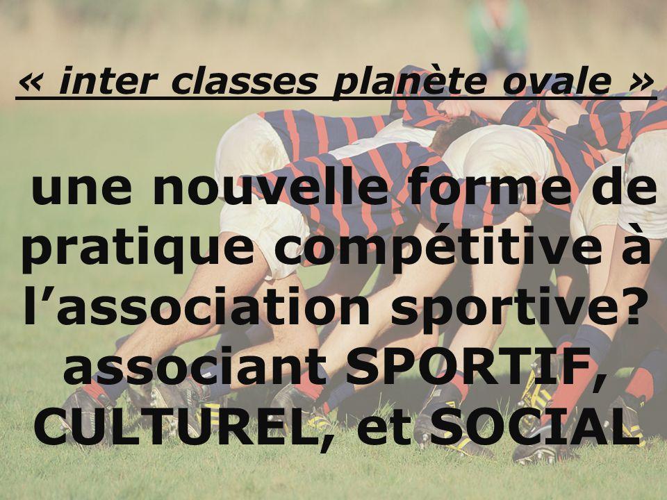 « inter classes planète ovale » une nouvelle forme de pratique compétitive à l'association sportive.