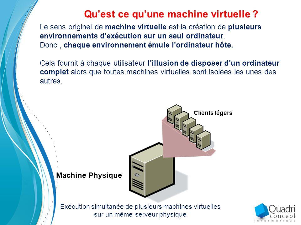 Qu'est ce qu'une machine virtuelle .