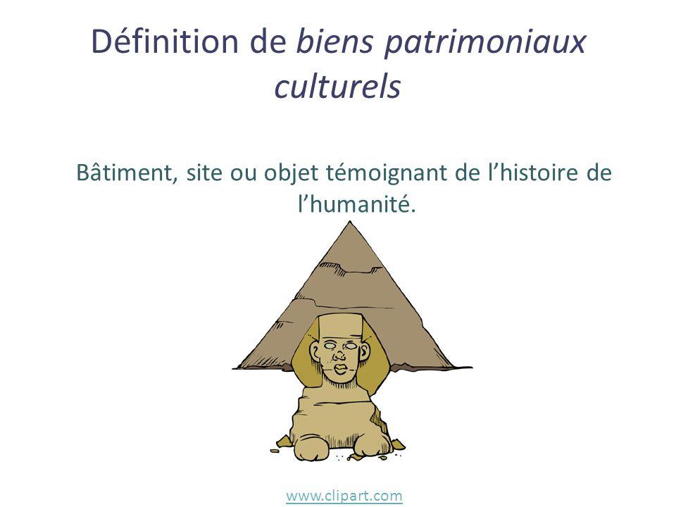 Bâtiment, site ou objet témoignant de l'histoire de l'humanité. Définition de biens patrimoniaux culturels www.clipart.com