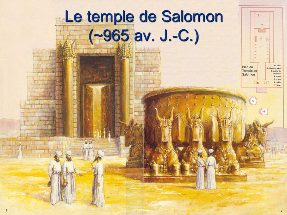 Le temple de Salomon (~965 av. J.-C.)