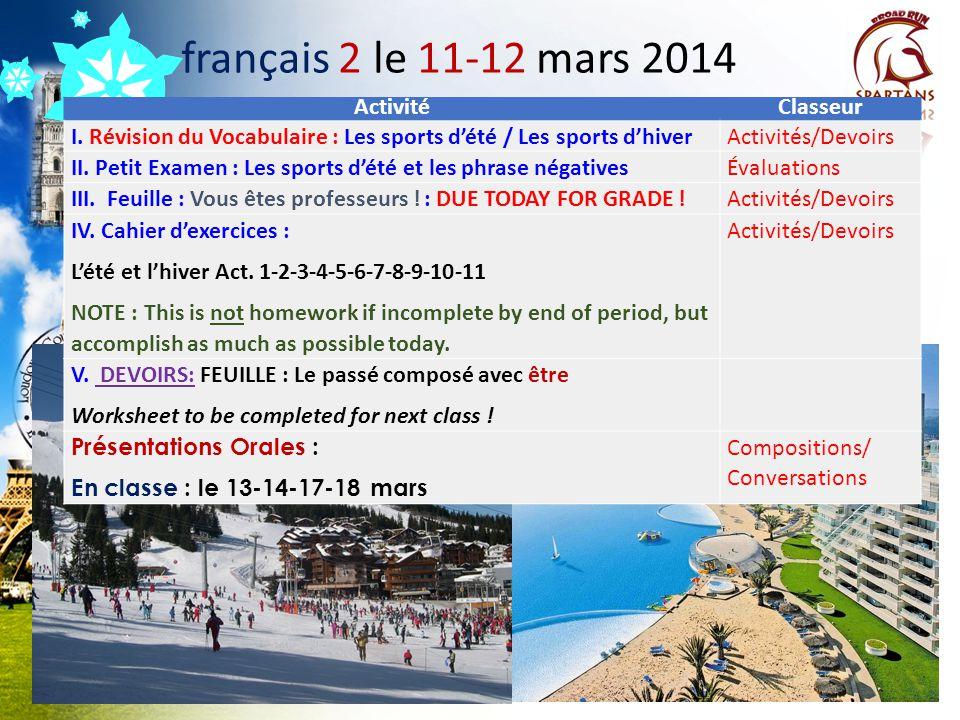 Des annonces à noter! A.Le voyage en France, en Suisse, et en Italie: COUPS DE TÉLÉPHONE INDIVIDUELS B. Twitter: @drdinicolaparle / Socrative  Studen