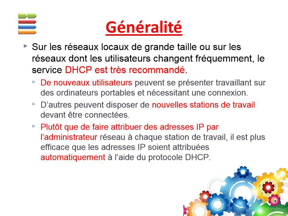 Permet de faire un adressage statique à l aide d un serveur DHCP.