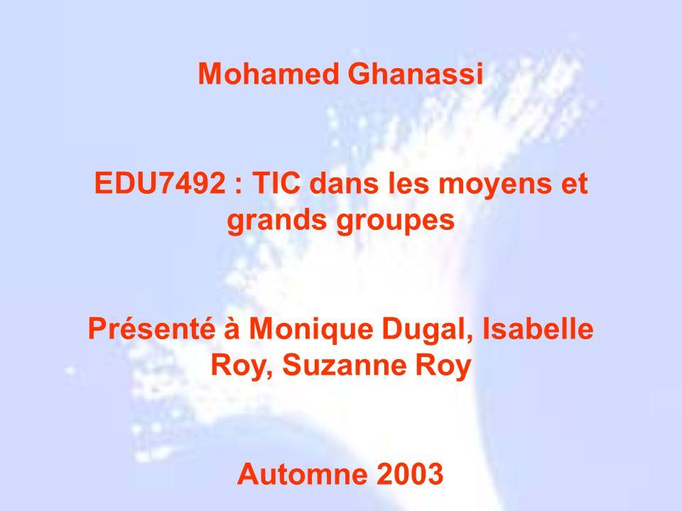 Grecs 1790 1854 1880 1927 1930 1950 1960 1964 1970 1977 Mohamed Ghanassi EDU7492 : TIC dans les moyens et grands groupes Présenté à Monique Dugal, Isa