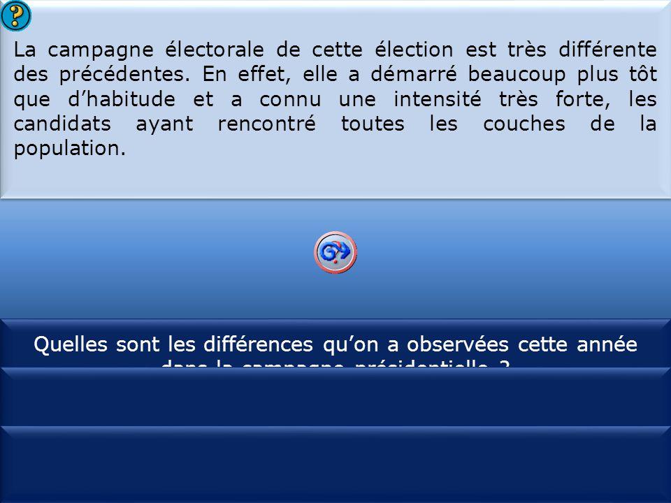 S1 La campagne électorale de cette élection est très différente des précédentes.