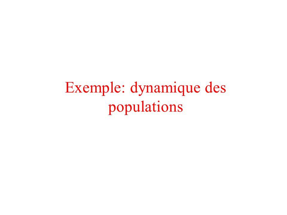 Exemple: dynamique des populations