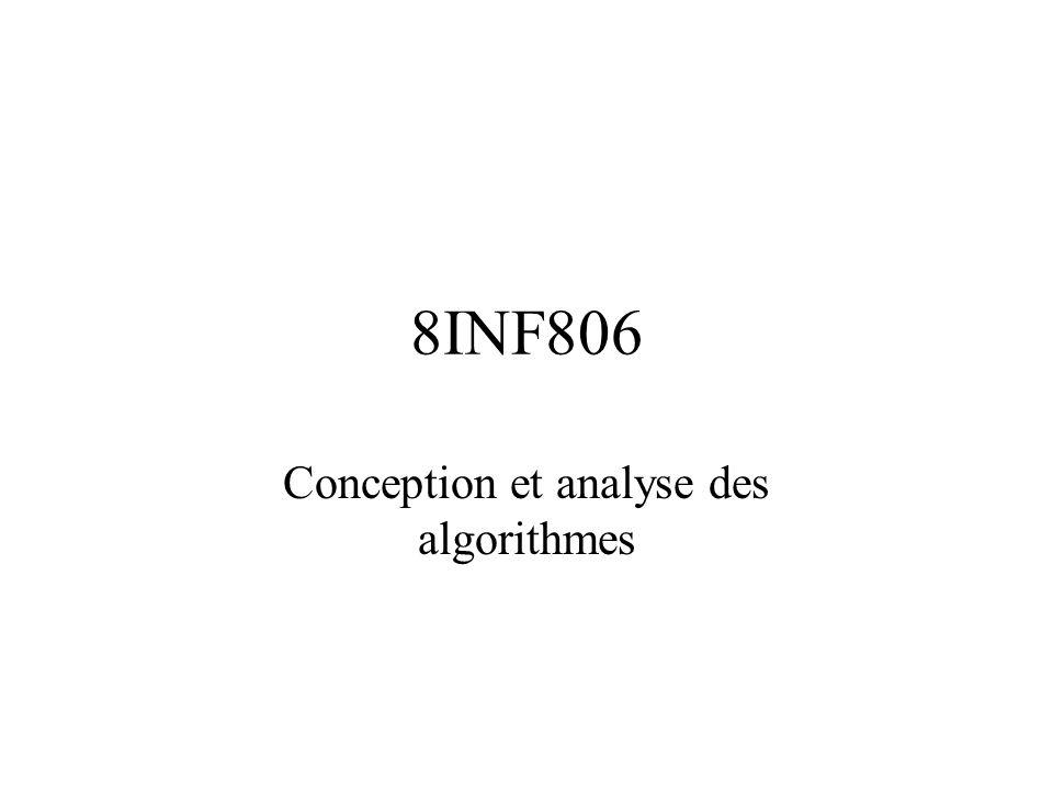 8INF806 Conception et analyse des algorithmes
