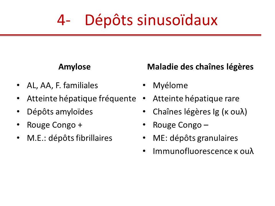 Maladie de Randall : dépôts chaînes légères κ, Immunofluorescence