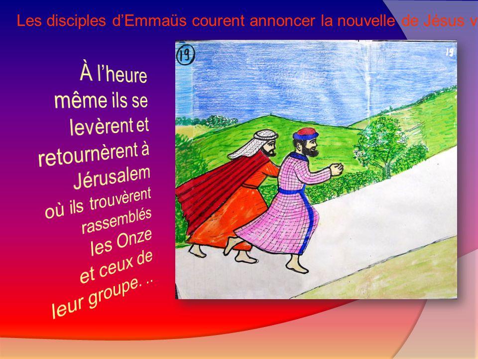 Les disciples d'Emmaüs courent annoncer la nouvelle de Jésus vivant