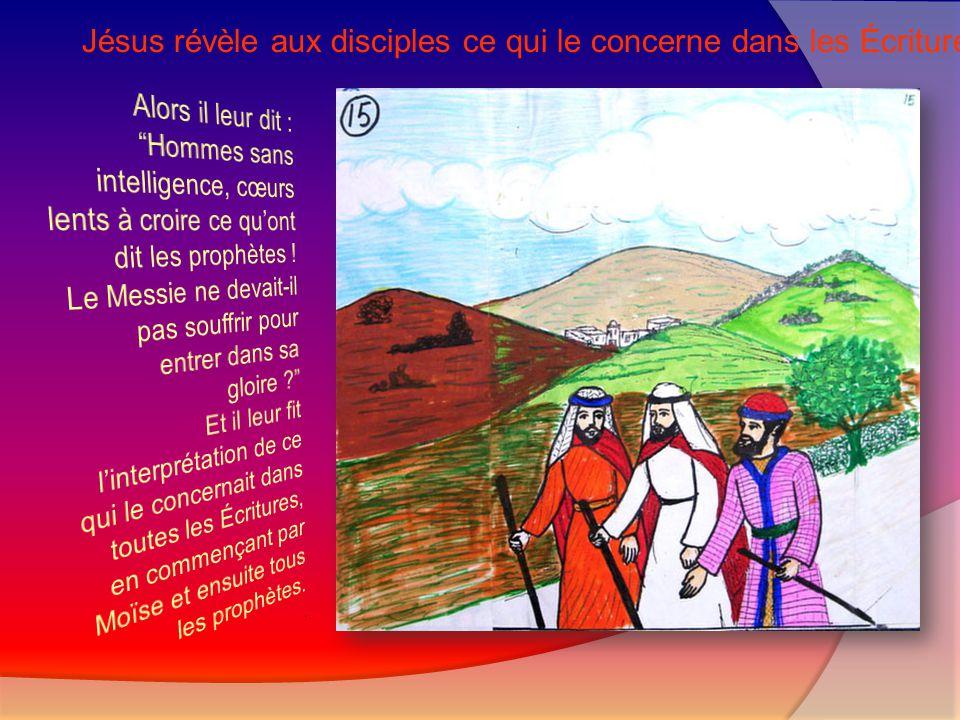Jésus accepte de partager le repas avec les disciples d'Emmaüs