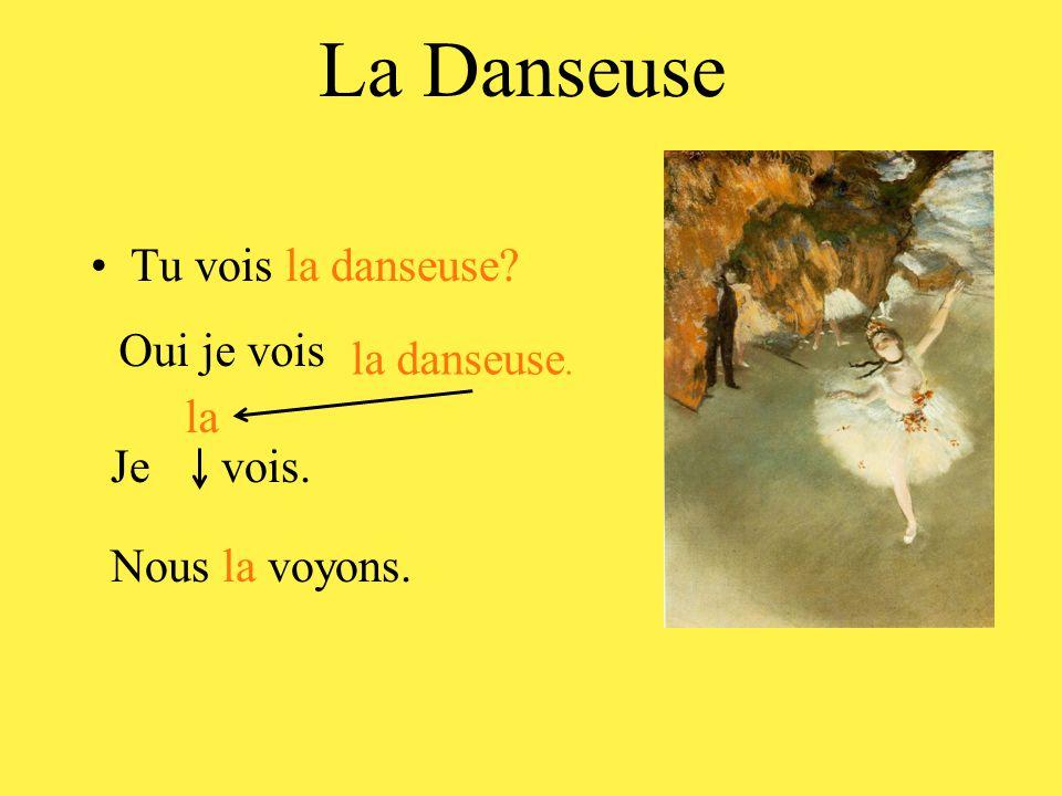 La Danseuse •Tu vois la danseuse? Oui je vois la danseuse. Je vois. la Nous la voyons.