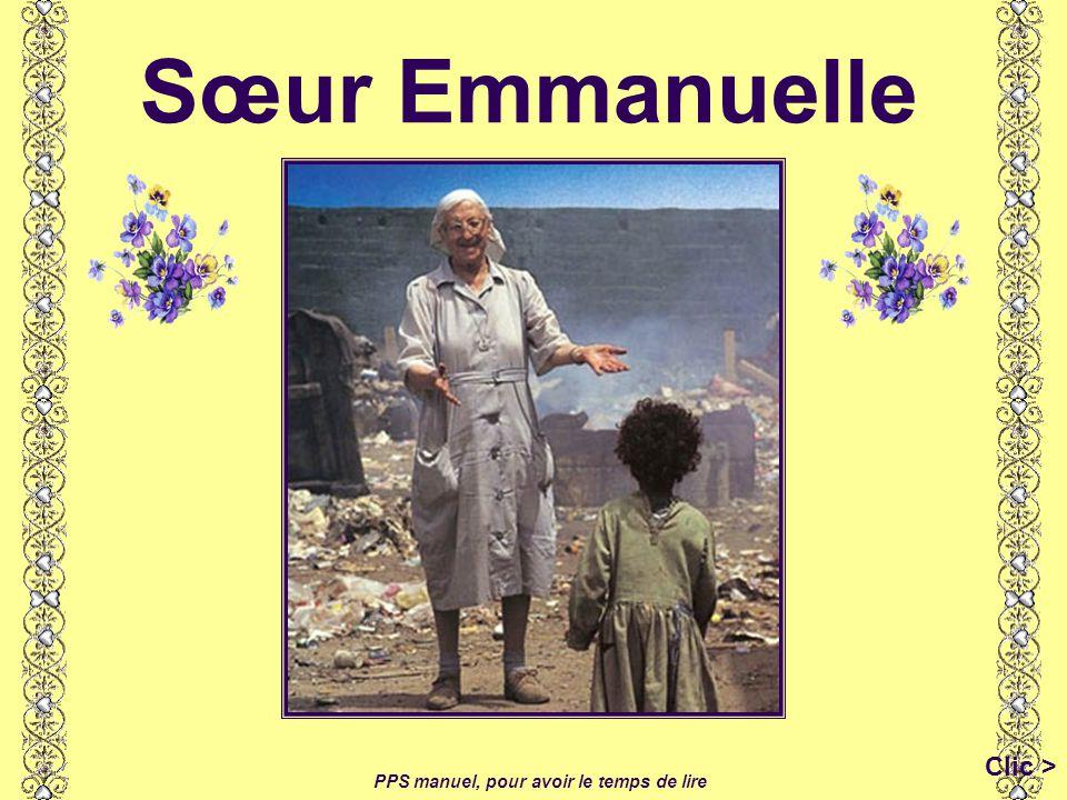 Sœur Emmanuelle PPS manuel, pour avoir le temps de lire Clic >