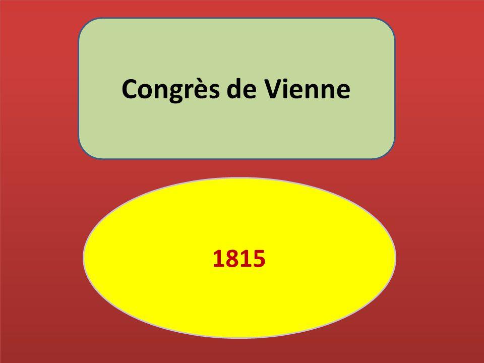 Congrès de Vienne 1815