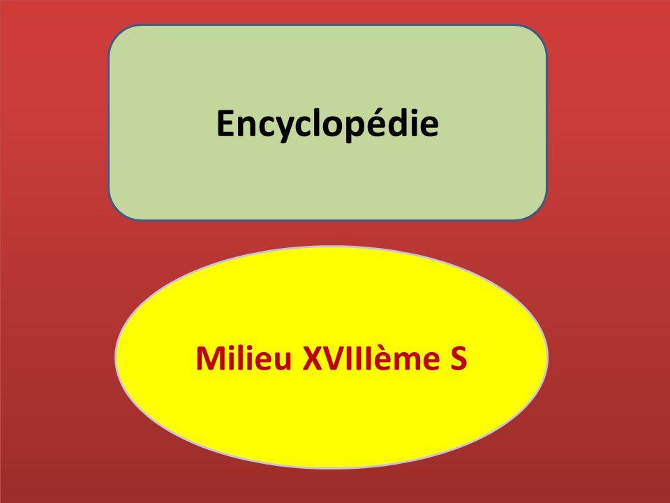 Encyclopédie Milieu XVIIIème S