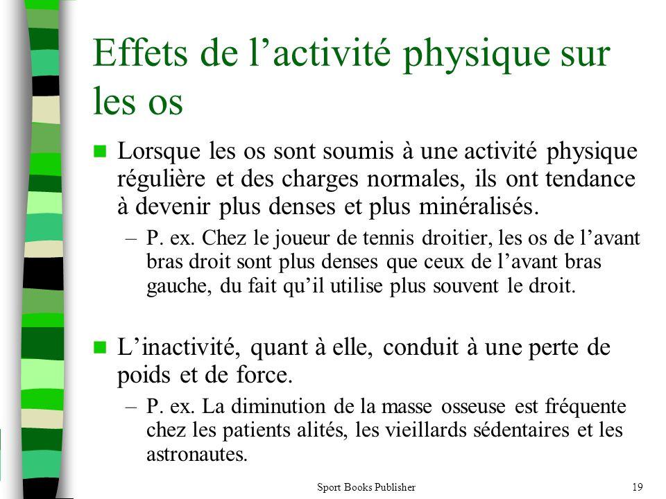 Sport Books Publisher19 Effets de l'activité physique sur les os  Lorsque les os sont soumis à une activité physique régulière et des charges normale