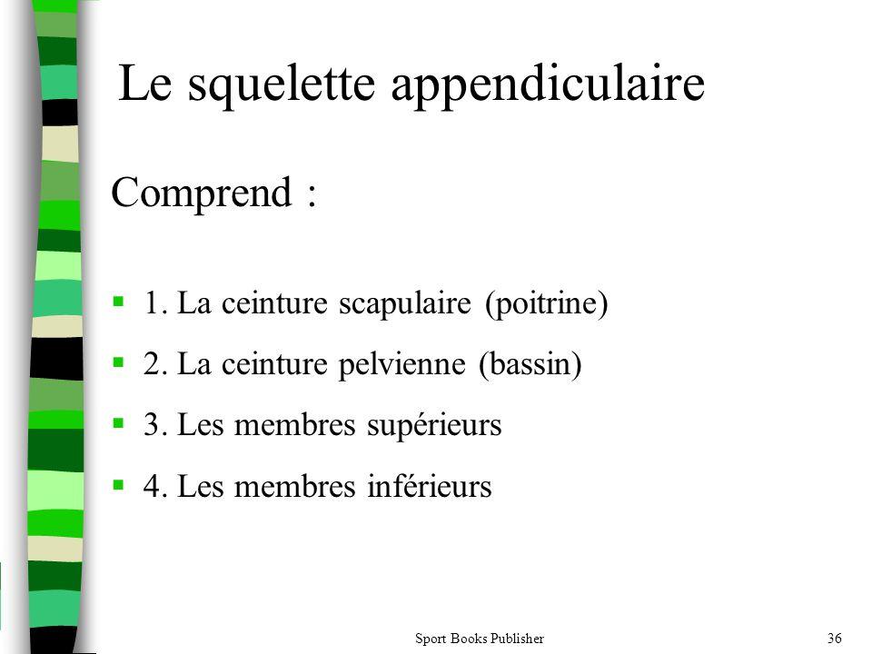 Sport Books Publisher36 Comprend :  1.La ceinture scapulaire (poitrine)  2.