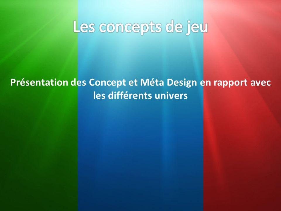 Présentation des Concept et Méta Design en rapport avec les différents univers
