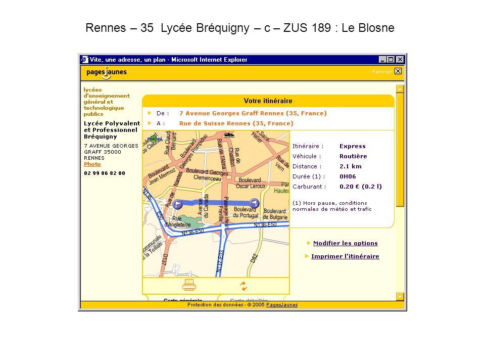 Rennes – 35 Lycée Bréquigny – c – ZUS 189 : Le Blosne.