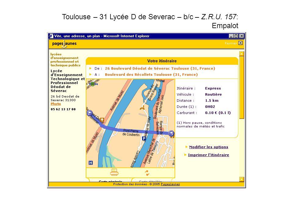 Toulouse – 31 Lycée D de Severac – b/c – Z.R.U. 157: Empalot.