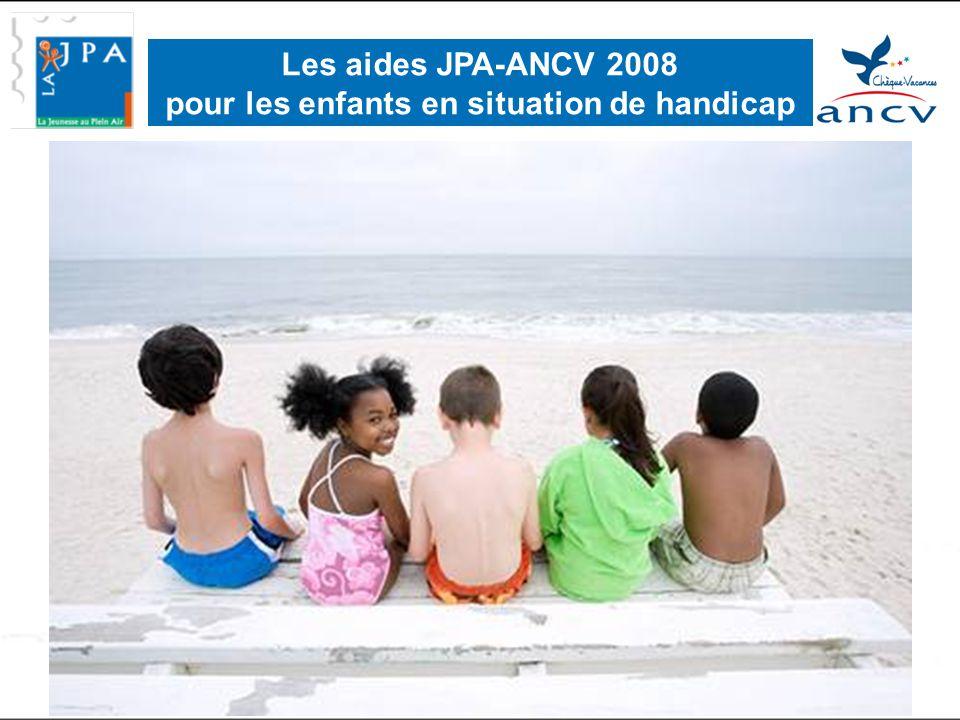 Les aides JPA-ANCV 2008 pour les enfants en situation de handicap