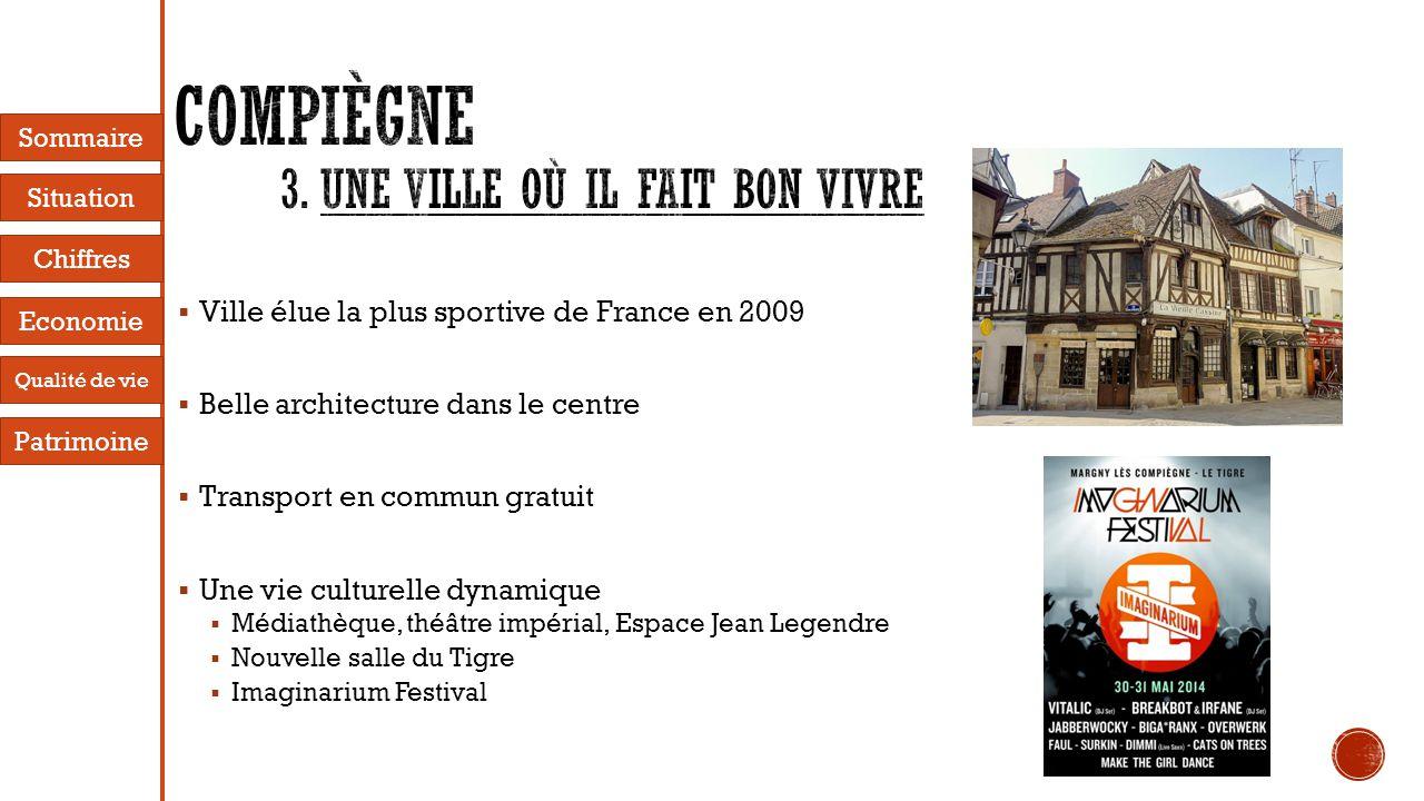  Ville élue la plus sportive de France en 2009  Belle architecture dans le centre  Transport en commun gratuit  Une vie culturelle dynamique  Méd