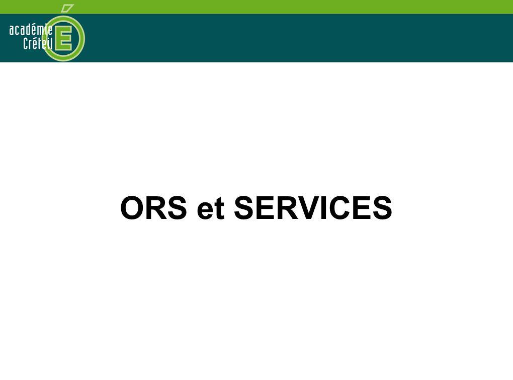 ORS et SERVICES