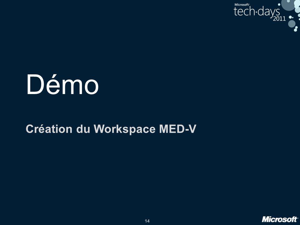 14 Démo Création du Workspace MED-V