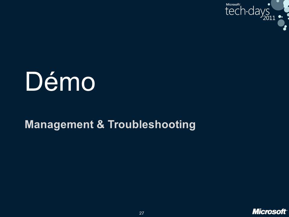 27 Démo Management & Troubleshooting