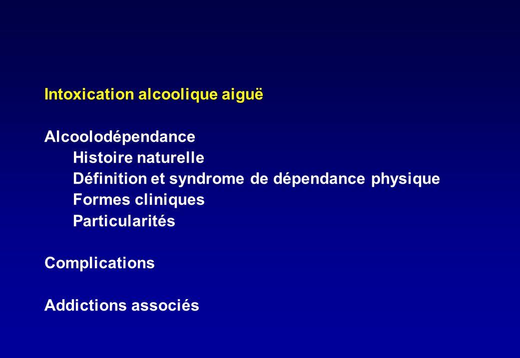 Diagnostic sur le DSM IV • Syndrome de sevrage • Tolérance • Plus et plus longtemps que prévu • Beaucoup de temps passé • Abandon d activité • Tentatives infructueuses d arrêt • Pas d arrêt malgré les conséquences au moins trois dans l année précédente