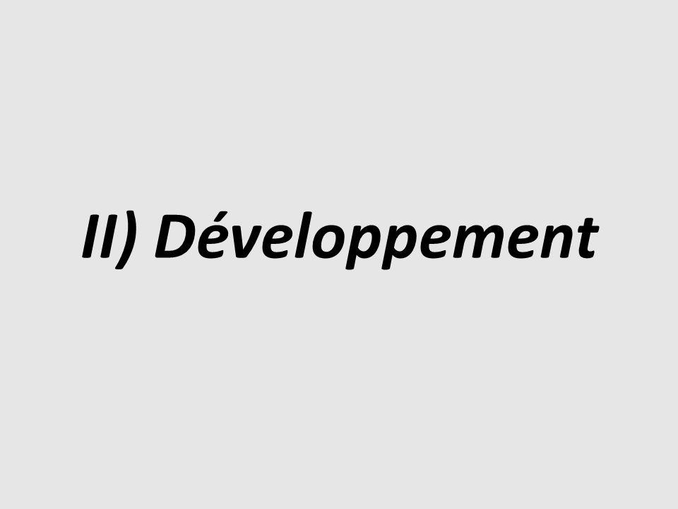 II) Développement