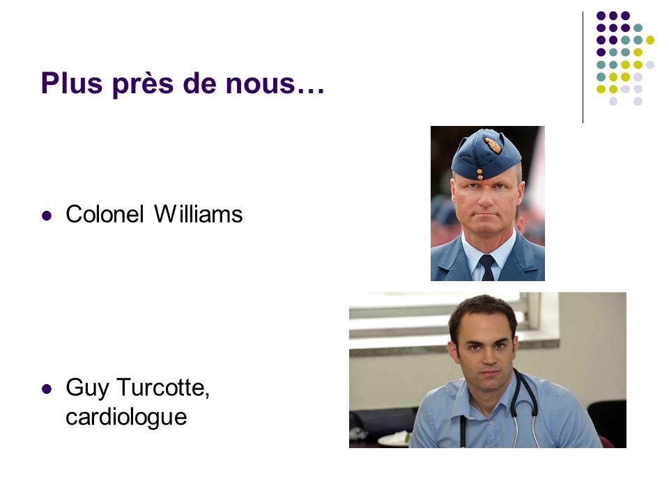 Plus près de nous…  Colonel Williams  Guy Turcotte, cardiologue